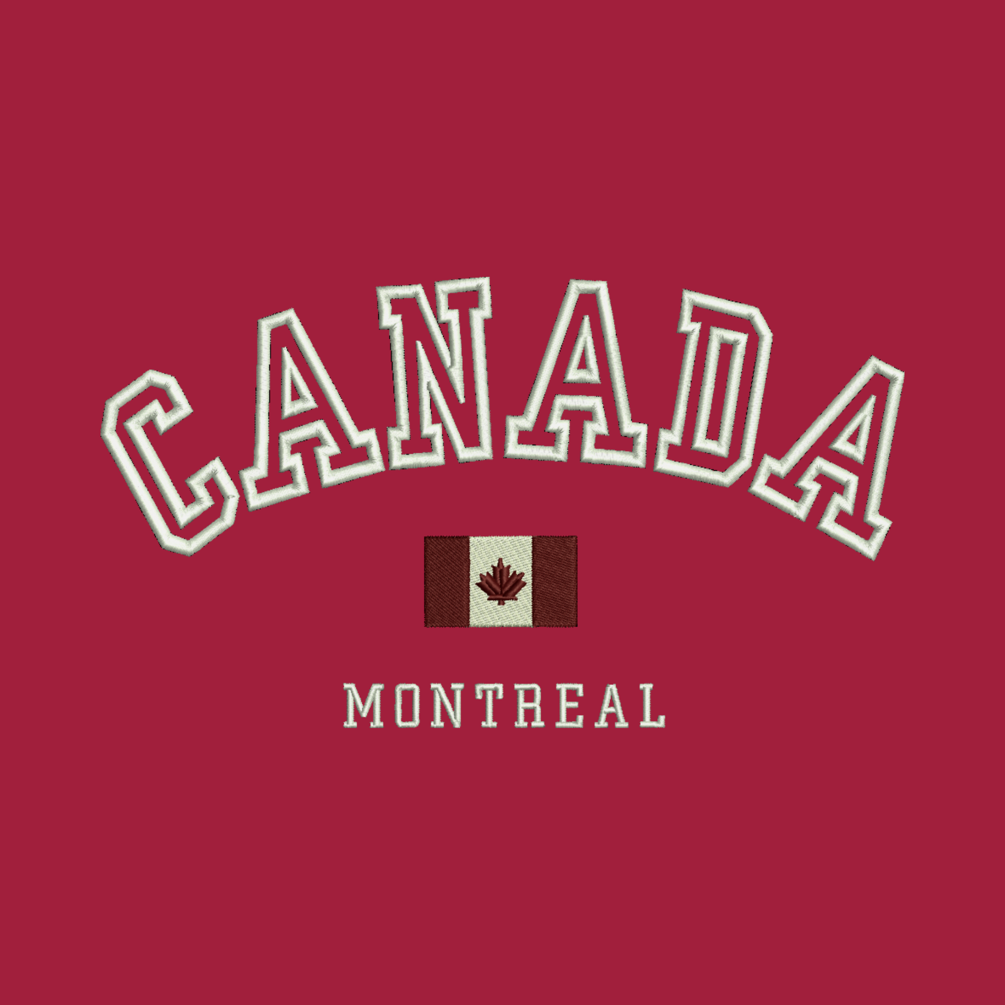 Arched Canada and Flag