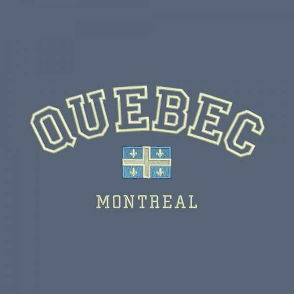 Arched Text Quebec Flag