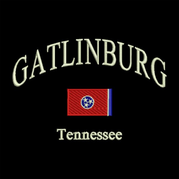 Arched Lettering Tennessee Flag