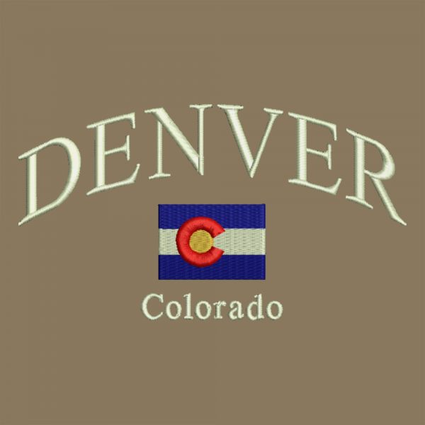Arched Lettering Colorado Flag